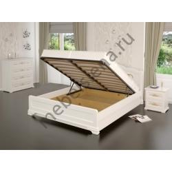 Кровать белая Муза с подъёмным механизмом
