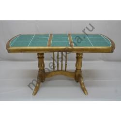 Деревянный стол 2х бал плитка