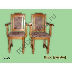 Деревянный стул - Барс (резьба)
