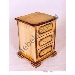 Прикроватная тумбочка 3 ящика