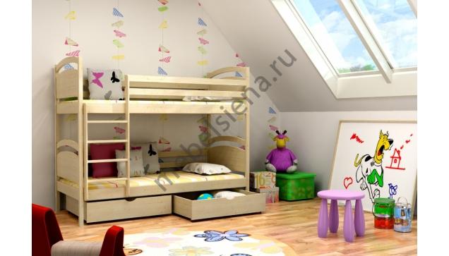Деревянная двухъярусная кровать - Алиса