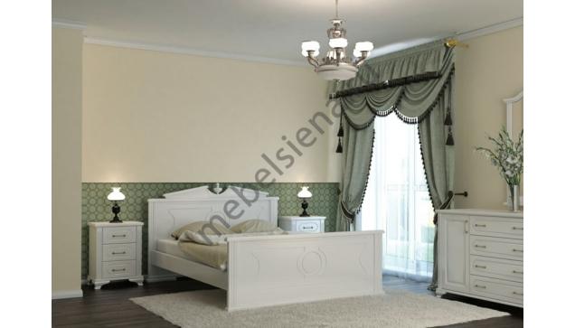 Двуспальная кровать Афина белая