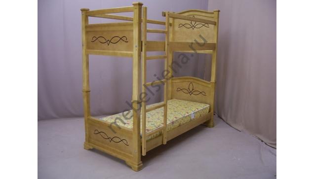 Деревянная двухъярусная кровать - Соната