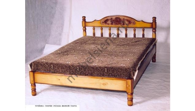 Односпальная кровать Точенка Глория резьба (тахта)