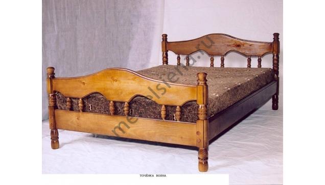 Двуспальная кровать Точенка Волна