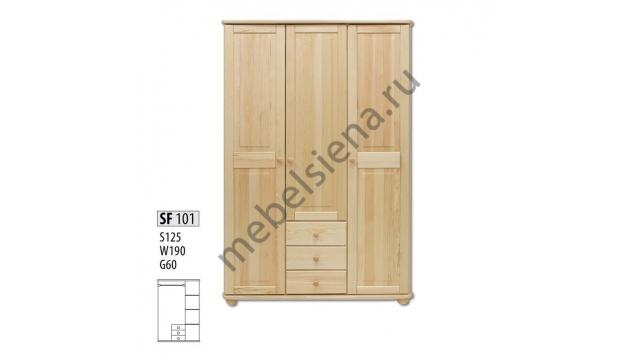 Шкаф 3 створчатый + 3 ящика