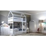 Двухъярусные кровати-домики для детей