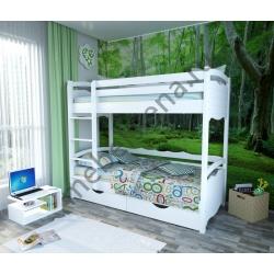 Деревянная двухъярусная кровать - Марти