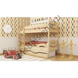 Деревянная двухъярусная кровать - Близнецы