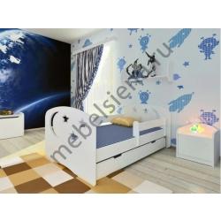 Детская деревянная кровать Космик