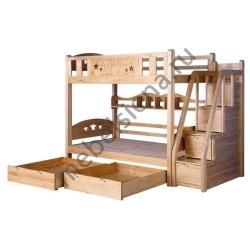 Деревянная двухъярусная кровать - Умка