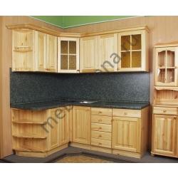 Деревянный кухонный гарнитур угловой