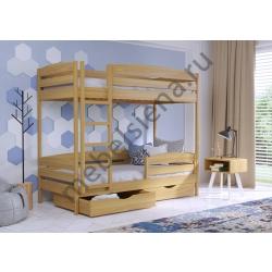 Деревянная двухъярусная кровать - Авелина