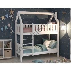 Деревянная двухъярусная кровать - Домик Лика