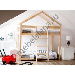 Деревянная двухъярусная кровать - Домик Сиена
