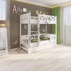 Деревянная двухъярусная кровать - Кристи