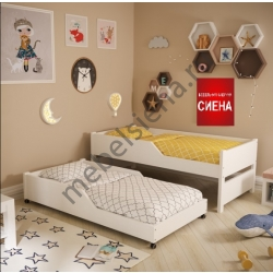 Детская деревянная кровать Дуэт