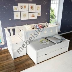Детская деревянная кровать Каролина