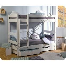 Деревянная двухъярусная кровать - Кантри