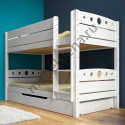 Деревянная двухъярусная кровать - Оливия
