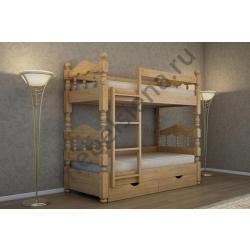 Деревянная двухъярусная кровать - Аура