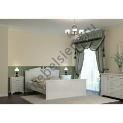 Односпальная кровать Афина белая