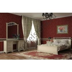 Двуспальная кровать Ирида белая