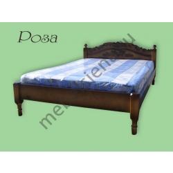 Односпальная кровать Роза (резьба)