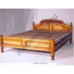 Двуспальная кровать Наполеон резьба