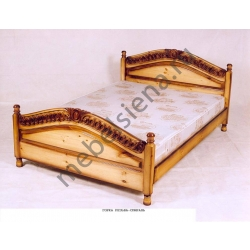 Односпальная кровать Горка резьба-спираль