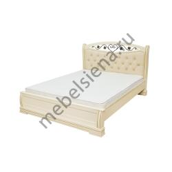 Односпальная кровать Сиена вставка ковка