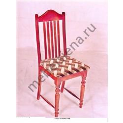 Деревянный стул полумягкий