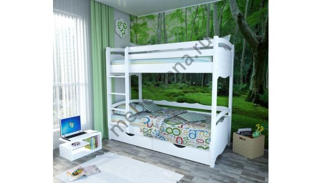 Двухъярусная кровать Марти деревянная