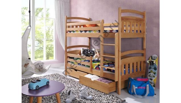 Двухъярусная кровать Соня деревянная
