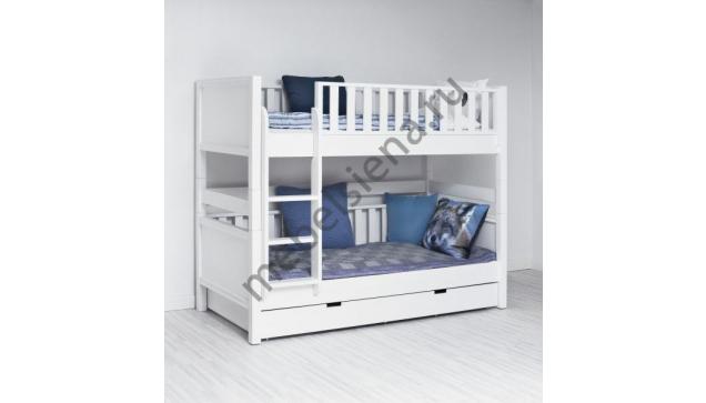 Двухъярусная кровать Ева деревянная