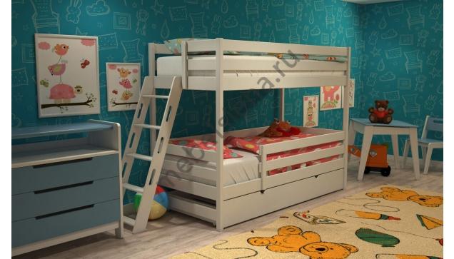 Двухъярусная кровать Злата деревянная