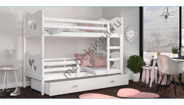 Двухъярусная кровать Люба деревянная