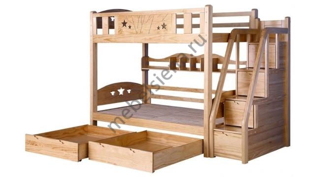 Двухъярусная кровать Умка деревянная