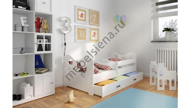 Детская деревянная кровать Дино