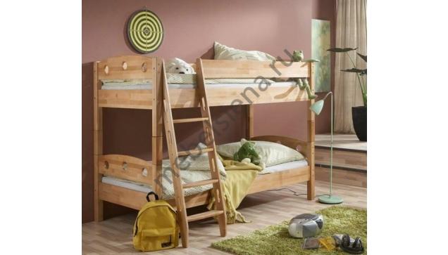 Двухъярусная кровать Оливия 2 деревянная