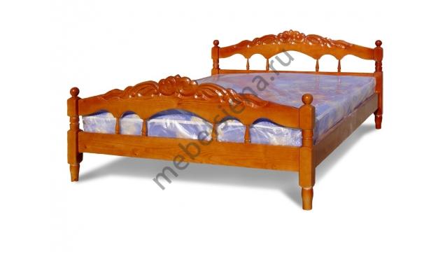 Односпальная кровать Виктория (резьба)