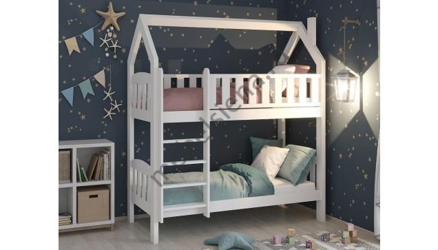 Двухъярусная кровать домик Лика деревянная