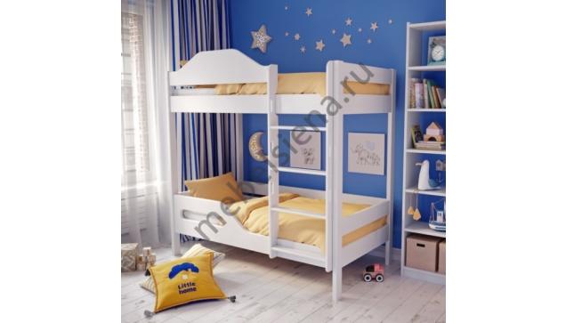 Двухъярусная кровать Сити деревянная