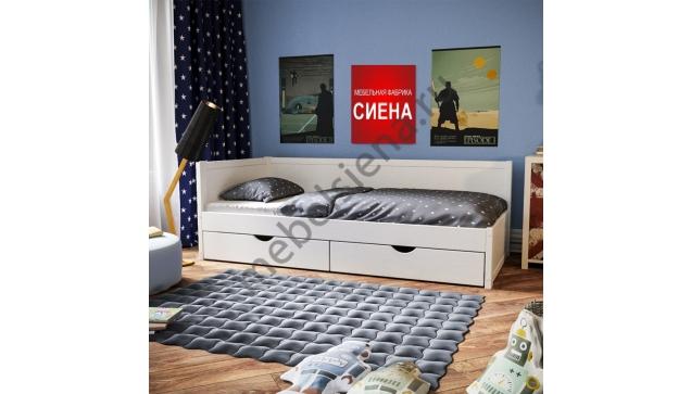 Детская деревянная кровать Лама