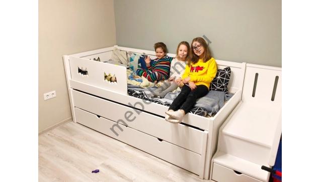 Детская деревянная кровать Бэтмен