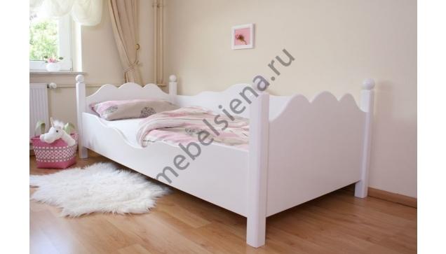 Детская деревянная кровать Волна