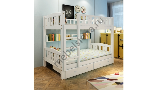 Двухъярусная кровать Лика деревянная