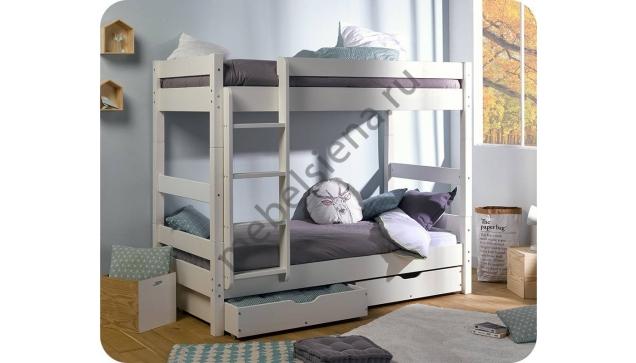Двухъярусная кровать Кантри деревянная