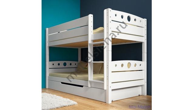 Двухъярусная кровать Оливия деревянная