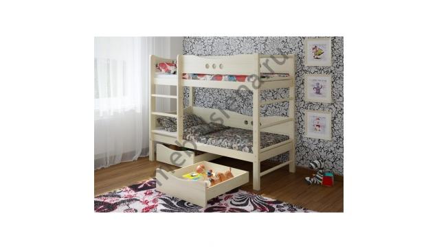 Двухъярусная кровать Легенда деревянная